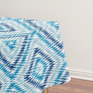Het blauwe Patroon van de Diamant Tafelloper