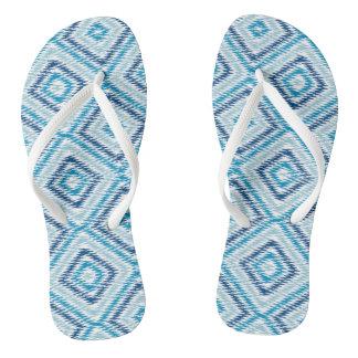 Het blauwe Patroon van de Diamant Teenslippers