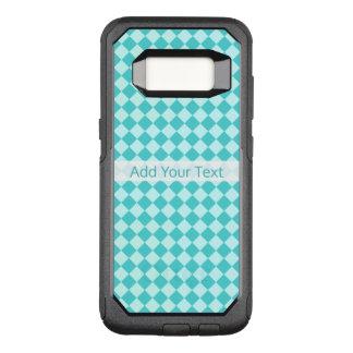 Het blauwe Patroon van de Diamant van de OtterBox Commuter Samsung Galaxy S8 Hoesje