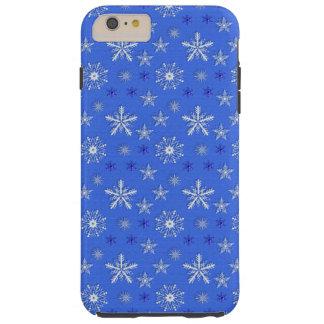 het blauwe patroon van de Kerstmisvakantie Tough iPhone 6 Plus Hoesje