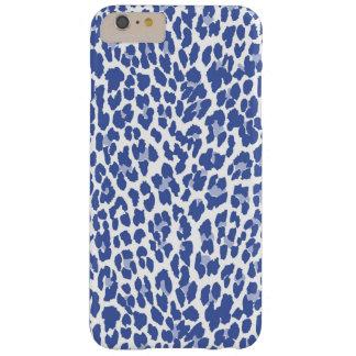Het blauwe Patroon van de Luipaard Barely There iPhone 6 Plus Hoesje
