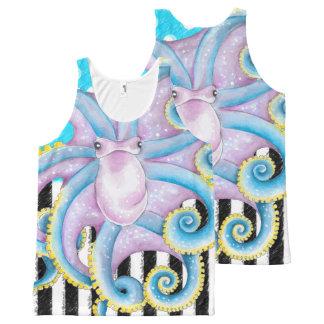 Het Blauwe Patroon van de octopus All-Over-Print Tank Top