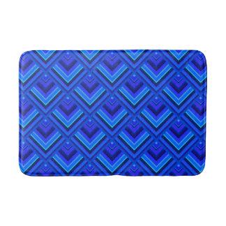 Het blauwe patroon van de strepenschaal badmat
