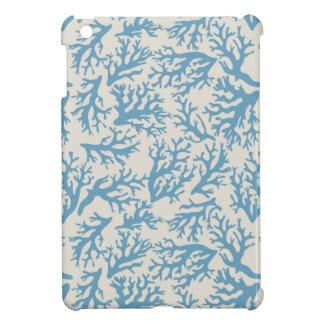 Het blauwe Patroon van het Koraal iPad Mini Hoesjes