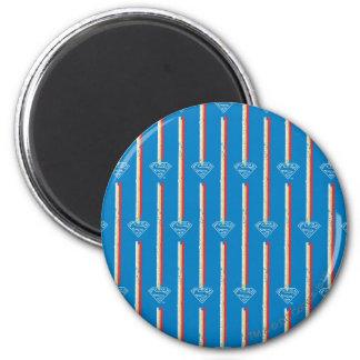 Het blauwe Patroon van het Schild Koelkast Magneetje