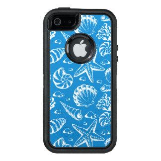 Het blauwe Patroon van het Strand OtterBox Defender iPhone Hoesje