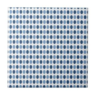 Het blauwe Patroon van Stippen Keramisch Tegeltje
