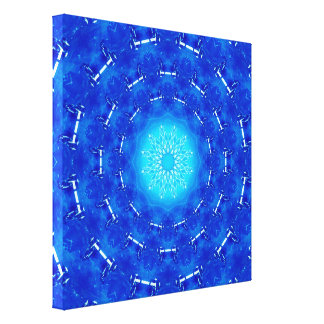 Het blauwe Portaal van de Energie Canvas Afdrukken