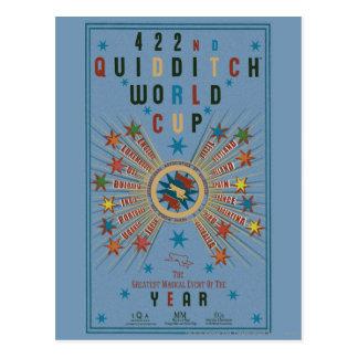 Het Blauwe Poster van de Kop van de Wereld van Briefkaart