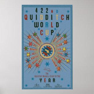 Het Blauwe Poster van de Kop van de Wereld van Qui