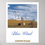 Het blauwe Poster van de Wind