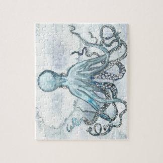 Het blauwe Raadsel van de Octopus Foto Puzzels