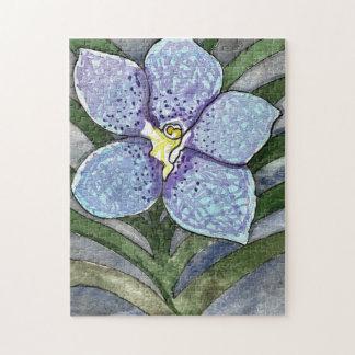 Het blauwe Raadsel van de Orchidee 11x14, Doos Puzzel