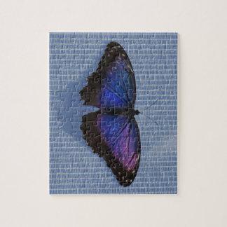 Het blauwe Raadsel van de Vlinder Morpho Puzzel