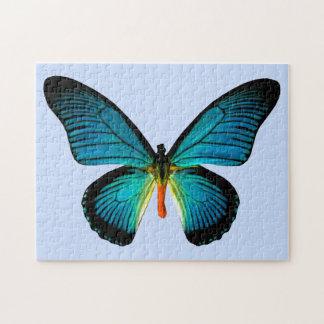 Het blauwe Raadsel van de Vlinder Puzzel