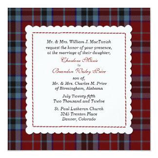 Het blauwe & Rode Huwelijk van de Douane van de 13,3x13,3 Vierkante Uitnodiging Kaart
