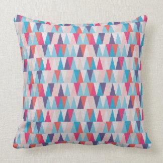 Het blauwe & Roze Geometrische Patroon van de Kussen