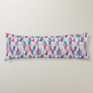 Het blauwe & Roze Geometrische Patroon van de Lichaamskussen