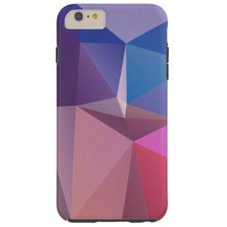 Het blauwe Roze Paarse Abstracte Art. van de Tough iPhone 6 Plus Hoesje