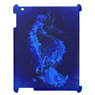 Het blauwe Schilderen Seahorse iPad Hoesje