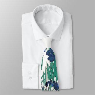 Het blauwe Stropdas van de Bloemen van de Irissen