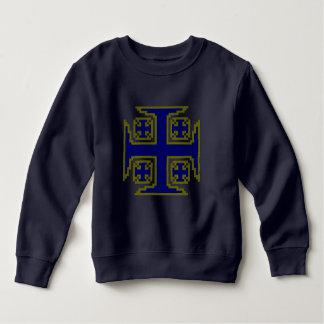Het blauwe Sweatshirt van de Vacht van de Peuter