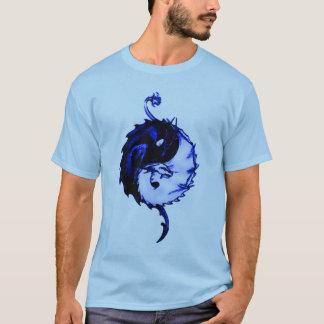 Het blauwe Symbool van de Eenheid van de Draak T Shirt