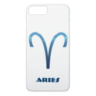 Het blauwe Teken van de Dierenriem van de Ram op iPhone 8/7 Plus Hoesje