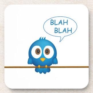 Het blauwe tjilpenvogel spreken bier onderzetters