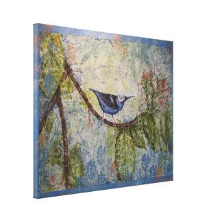 Het blauwe Tropische Verpakte Canvas van de