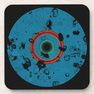 Het blauwe Veelkleurige VinylPatroon van de Drankjes Onderzetter