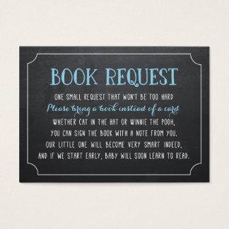 Het blauwe Verzoek van het Boek van het Baby Visitekaartjes