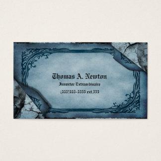 Het blauwe Visitekaartje van het Perkament Gotisch Visitekaartjes