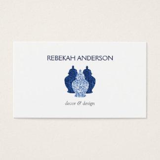 Het blauwe Visitekaartje van het Trio van het Visitekaartjes