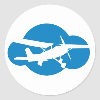 Het blauwe Vliegtuig van de Wolk & van de Luchtvaa Stickers