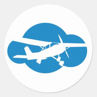 Het blauwe Vliegtuig van de Wolk & van de Ronde Stickers