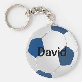Het Blauwe Voetbal Keychain van de douane Sleutelhanger