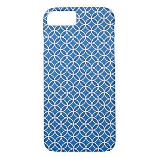 Het blauwe Witte Elegante Abstracte Patroon van iPhone 8/7 Hoesje