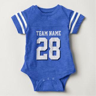 Het blauwe Witte Kruippakje van het Baby van de Baby Bodysuit