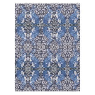 Het blauwe Witte Tafelkleed van de Jugendstil van