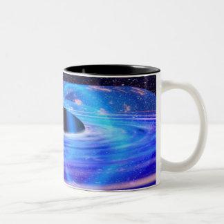 Het Blauwe Zwarte Gat van NASA Tweekleurige Koffiemok