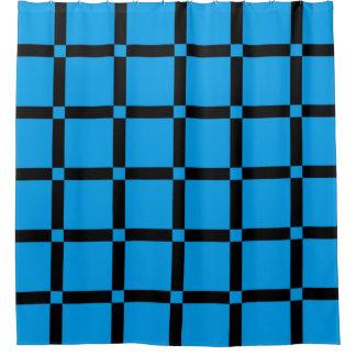 Het blauwe & Zwarte Patroon van het Net Gordijn 0