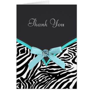 Het blauwgroen Blauwe Zebra dankt u Kaarten