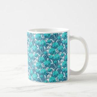 Het blauwgroen Bos van het Zee, vat Koffiemok