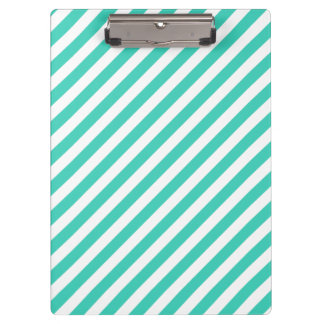 Het blauwgroen en Witte Diagonale Patroon van Klembord