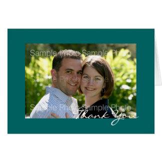 Het blauwgroen Gepersonaliseerde Huwelijk van de Kaart