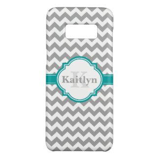 Het blauwgroen Grijze Patroon van de Chevron & Case-Mate Samsung Galaxy S8 Hoesje