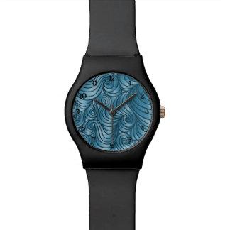 Het blauwgroen Horloge van de Werveling met aantal