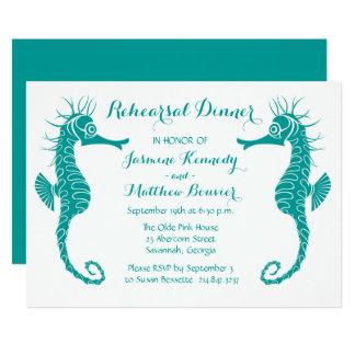 Het blauwgroen Huwelijk van het Strand van 12,7x17,8 Uitnodiging Kaart
