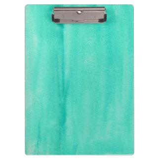 Het blauwgroen Klembord van de Waterverf